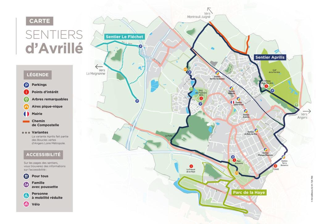 carte - sentiers Avrillé