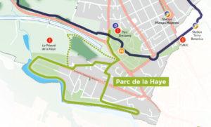 carte - sentier Parc de la Haye